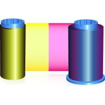 Zebra kleurenlint (YMCKO), geschikt voor de P310i, P320i, P330i, P420i, P430i en P520i, 200 afdrukken