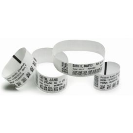 Zebra Z-Band UltraSoft, wit, 25x279 mm, kleefsluiting, 175 bandjes per cartridge -> Per 6 cartridges