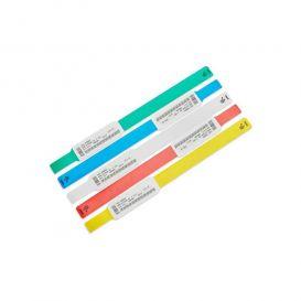 Zebra Z-Band Ultrasoft, blauw, 25x152 mm, kind, permanente kleefsluiting, 300 bandjes per cartridge -> per 6 cartridges