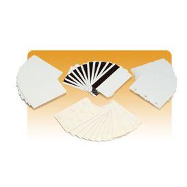 Zebra breekbare PVC kaarten, 1 pasje =3 sleutelhangers. Kleur wit, 0,76mm -> Per 500 stuks