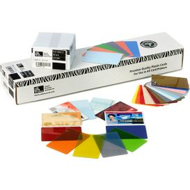 Zebra PVC pasjes, kleur blauw, 30 mil (0,76 mm) -> Per 500 stuks