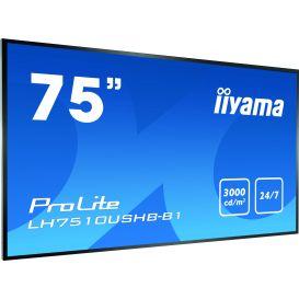 iiyama ProLite LH7510USHB-B1, 190,5 cm (75''), zwart
