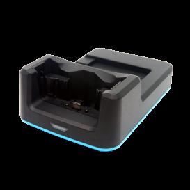 Unitech 1-slot oplaadstation, voor 1x PDA en 1x batterij, incl. voeding, voor de EA630