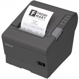 Epson TM-T88V, USB, Ethernet, donkergrijs, incl. EU voeding