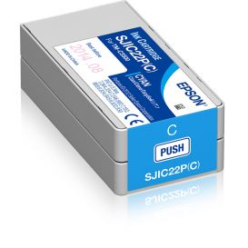 Epson cartridge, Cyaan, geschikt voor de C3500, 32,5 ml