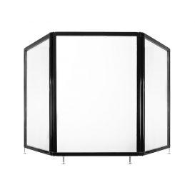 APG Scherm, Aluminium frame met 1,980mm x 920mm helder acryl glas, Met opening, Verstelbare voet, Inklapbaar, 11KG