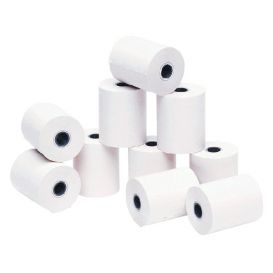 Bonrollen, 1 Ply, 76x80x12 (60 meter), Normaal papier -> Per 50 Rollen