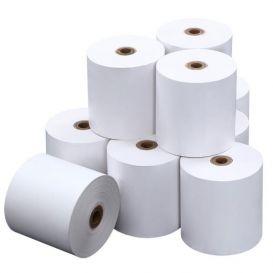 Bonrollen, 1 ply (enkel), 70x12x80mm (60 meter), normaal papier (niet thermisch) -> per 50 rollen