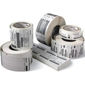 Honeywell labels 80x127 mm, Duratherm III, kern 76 mm, diameter 190 mm, papier, DT, 1170 labels op rol -> Per 8 rollen