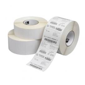 Zebra Labels 70x32 mm, Z-Ultimate 3000T, Kern 25 mm, TT, Polyester, Wit, 2100 Per Rol -> Per 12 Rollen